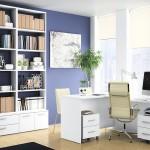 Muebles de despacho en color blanco