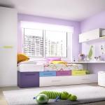 Dormitorio juvenil de colores con diseño moderno