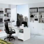 Mueble de oficina blanco