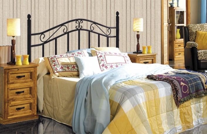 Los cabeceros de cama en la decoraci n for Cama forja ikea