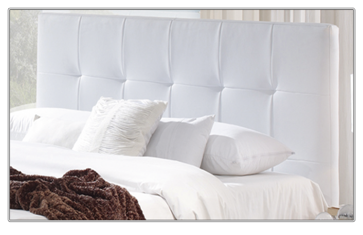 Decoraci n de dormitorios en blanco y negro - Cabeceros tapizados vintage ...