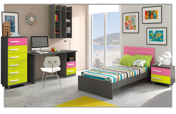 Colores para las habitaciones juveniles femeninas - Colores para pintar habitacion juvenil ...