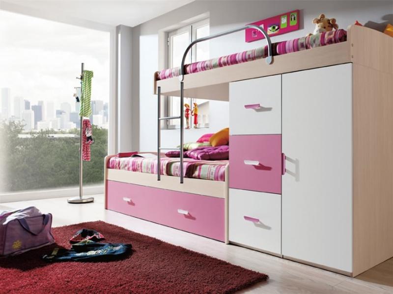 Decoraci n de la habitaci n juvenil para chicas - Dormitorios juveniles de dos camas separadas ...