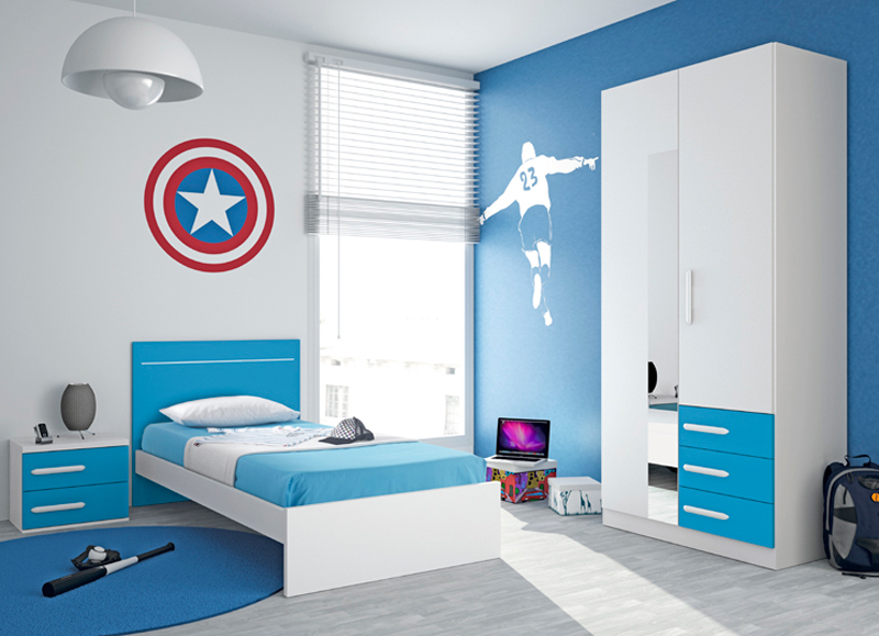 Decoraci n de la habitaci n juvenil para chicos - Habitaciones infantiles nino ...