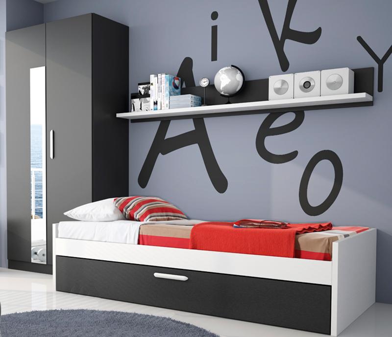 Decoración de la habitación juvenil para chicos |