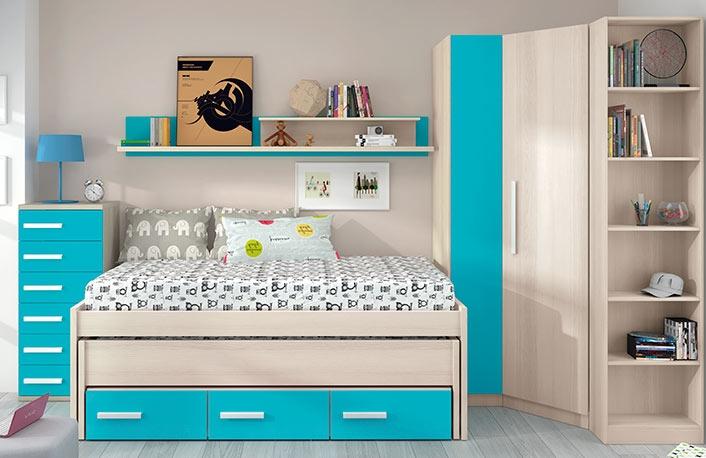 Camas para ahorrar espacio for Dormitorio juvenil nino