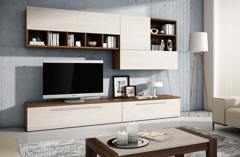 Muebles tv para salones pequenos for El mueble salones modernos