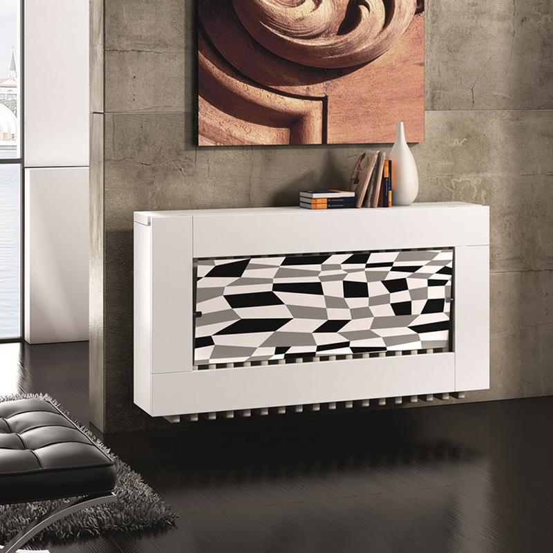 Cubreradiador moderno en blanco y negro