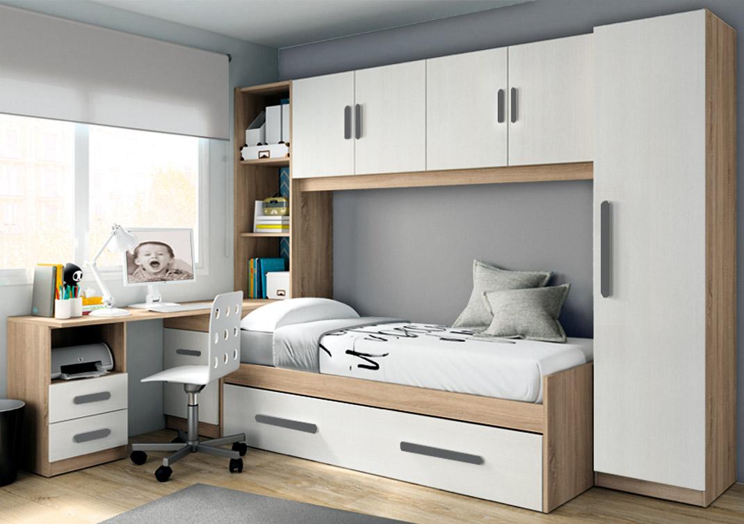 Habitacion joven trendy en este caso tenemos una cama for Habitacion familiar merida