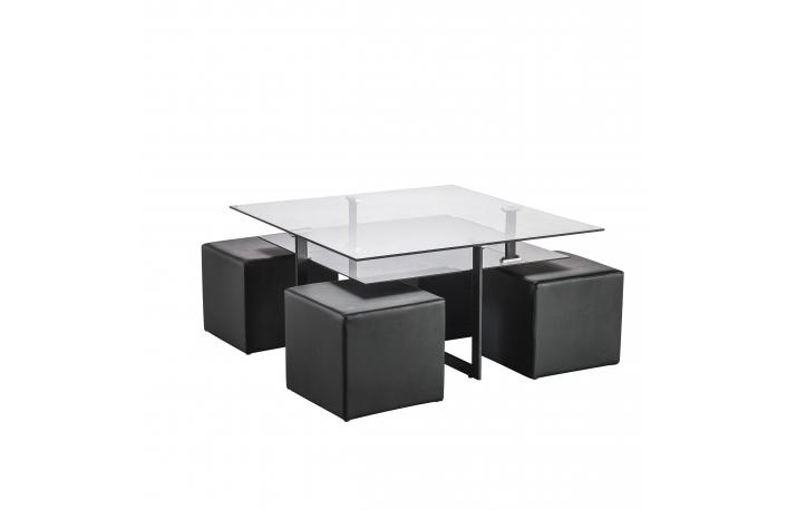 Seis mesas de centro para mantener el sal n ordenado - Mesa de centro con puff ...