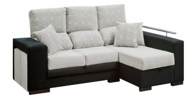 C mo combinar los muebles negros blog de decoraci n for Sofa blanco barato
