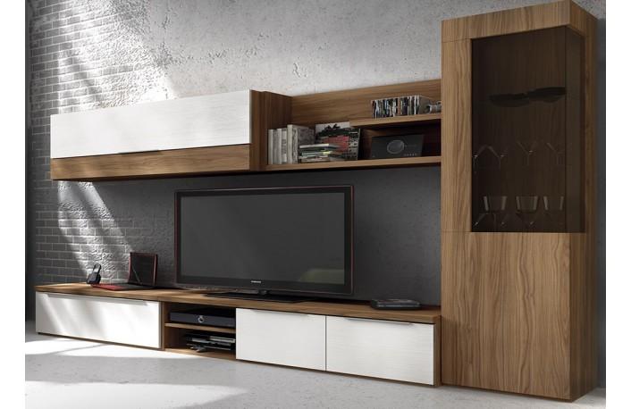 Madera y blanco una combinaci n m gica for Muebles de salon blanco y madera