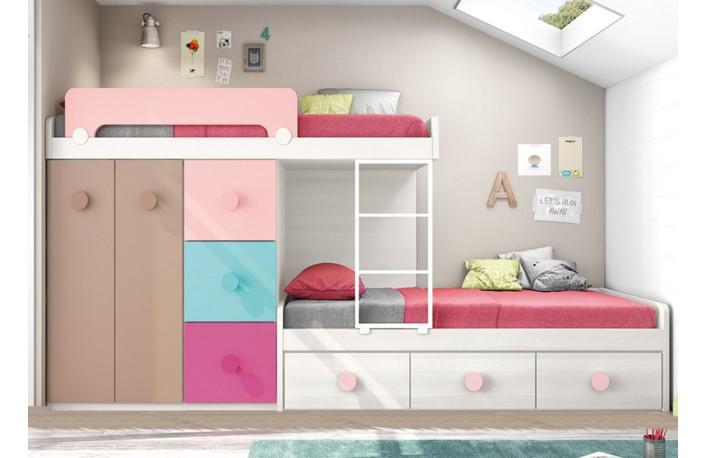 Los mejores muebles para dormitorios infantiles peque os - Dormitorios infantiles dobles ...
