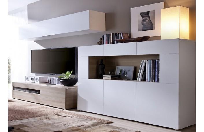 Madera y blanco una combinaci n m gica for Decoracion mueble salon