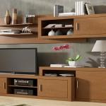 Mueble de salón moderno color nogal