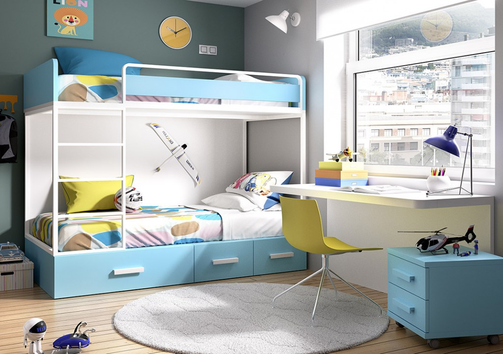 Las mejores camas para habitaciones juveniles peque as - Habitaciones infantiles marineras ...