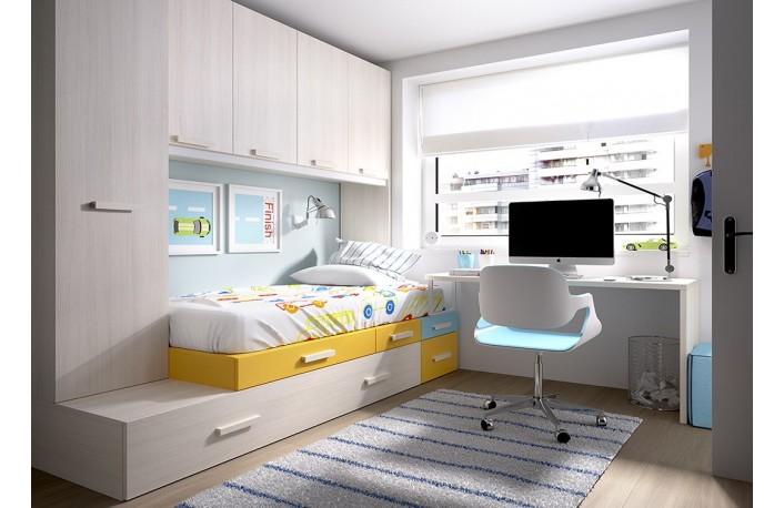 Los mejores muebles para dormitorios infantiles peque os - Habitaciones juveniles espacios pequenos ...