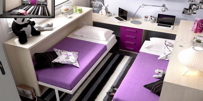 Camas plegables juveniles di adi s a tus problemas de for Habitaciones dos camas decoracion