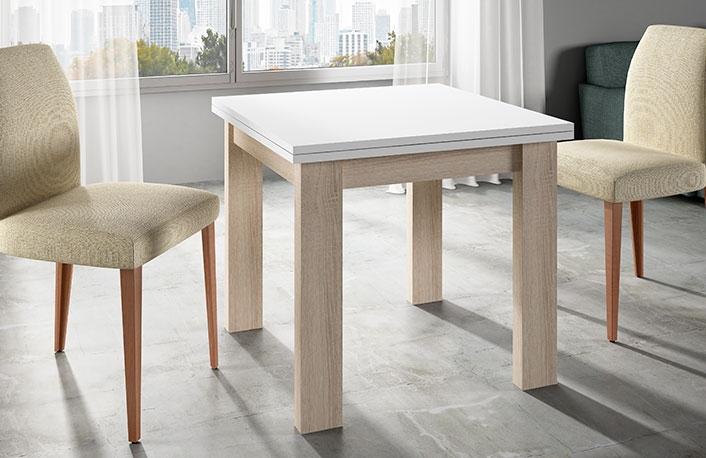 C mo escoger una mesa para una cocina peque a for Mesa de salon abatible