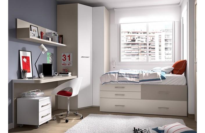 C mo transformar una habitaci n infantil a juvenil for Habitaciones compactas