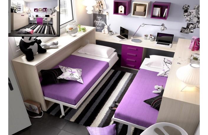 Los mejores muebles para dormitorios infantiles peque os - Camas dobles infantiles para espacios reducidos ...