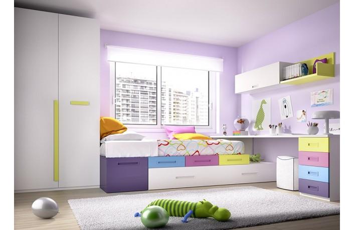 dormitorio juvenil de colores con diseo moderno cmo decorar