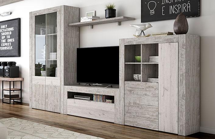 Muebles de sal n para ahorrar espacio y tenerlo ordenado - Muebles de salon modulares de madera ...