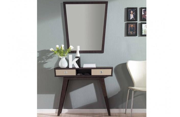 recibidor con marco espejo