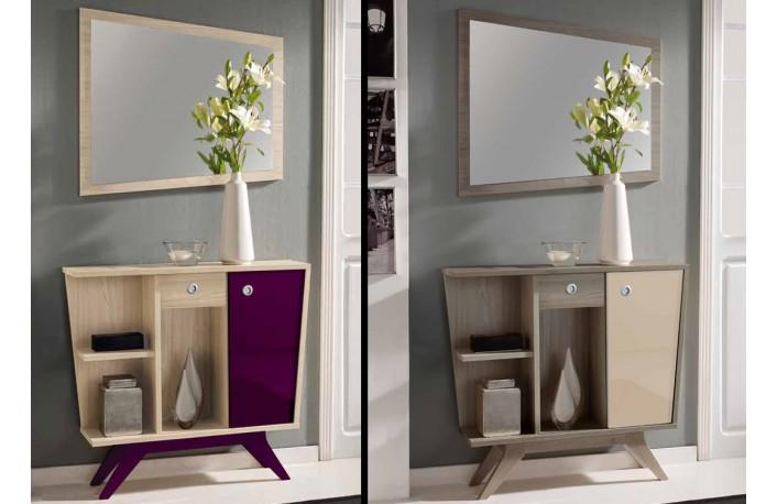 recibidor con marco espejo - Ideas Recibidor