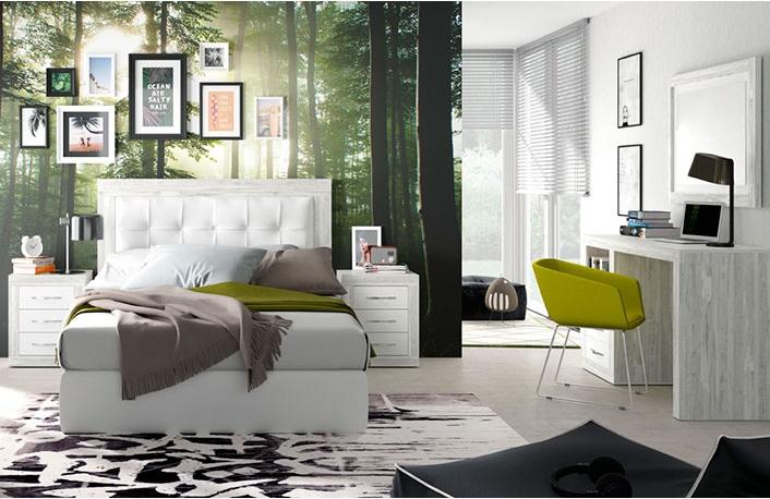 Trucos para decorar con muebles blancos for Dormitorio granate