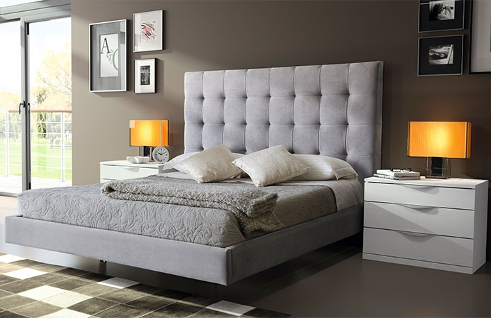 decorar dormitorios en blanco y gris