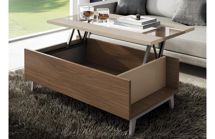 Gana espacio en el sal n con mesas de doble uso - Mesita salon elevable ...