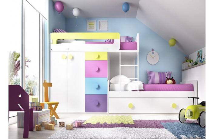 Las mejores camas para ni os y ni asblog de decoraci n de - Habitaciones con camas nido ...