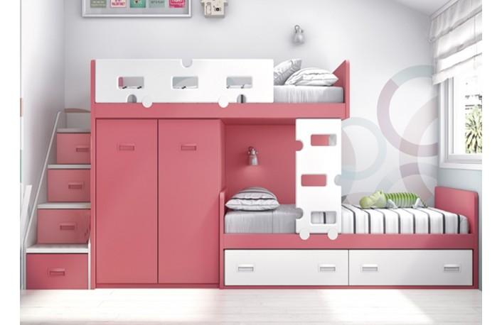 Muebles juveniles y divertidos para los peques de la casa - Habitaciones juveniles tipo tren ...