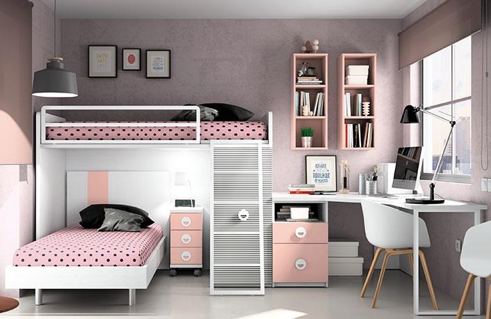 El top 5 en dormitorios juveniles para chicas - Habitacion juvenil chica ...