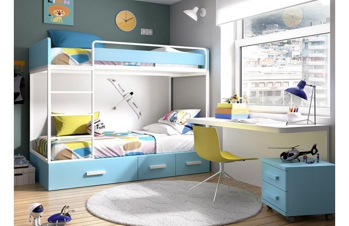 C mo distribuir la habitaci n infantil - Dormitorios dobles para ninos ...
