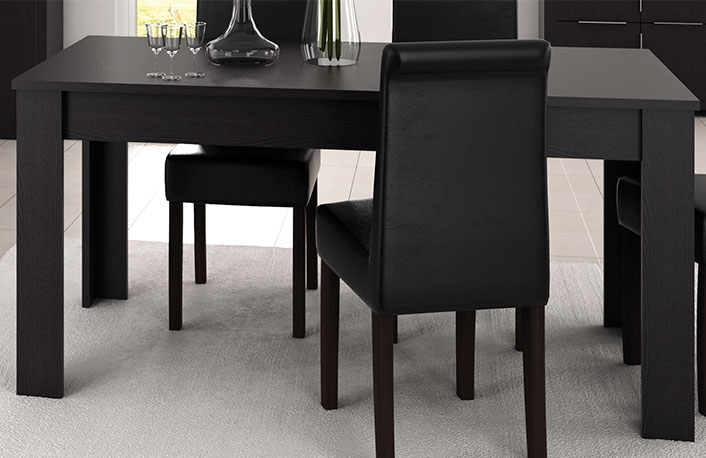 Consejos para introducir el negro en la decoraci n - Decoracion mesas de comedor ...