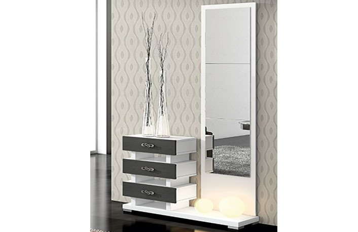 Consejos para iluminar el recibidor for Espejos largos modernos