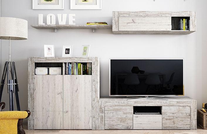 Consejos para decorar con muebles de colores claros - Decoracion mueble tv ...