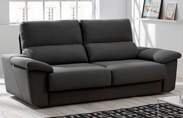 Consejos para introducir el negro en la decoraci n for Sofas reclinables economicos