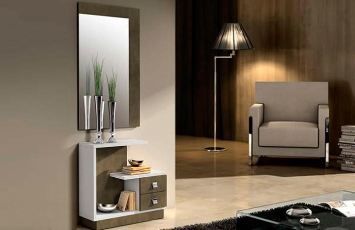 Consejos para decorar pasillos - Recibidor moderno blanco ...