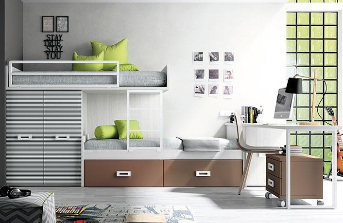 C mo decorar habitaciones compartidas unisex for Decoracion dormitorios juveniles masculinos