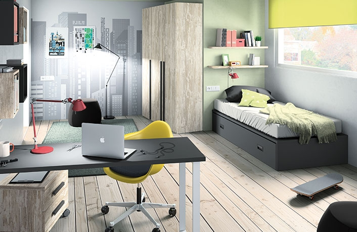 Top 5 en dormitorios juveniles para chicos for Dormitorio vintage moderno