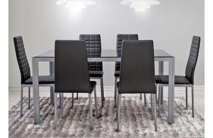 Muebles de sal n minimalistas for Comedor gris moderno