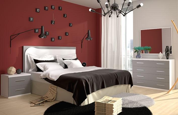 Ideas para usar el rojo en dormitorios - Decoracion paredes dormitorios matrimonio ...