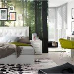 Dormitorio con escritorio artic soul blanco