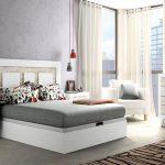 Dormitorio cabecero plafones y canape soul blanco vintage