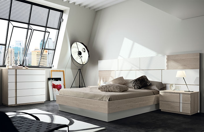 Decoración de dormitorios en blanco y madera |