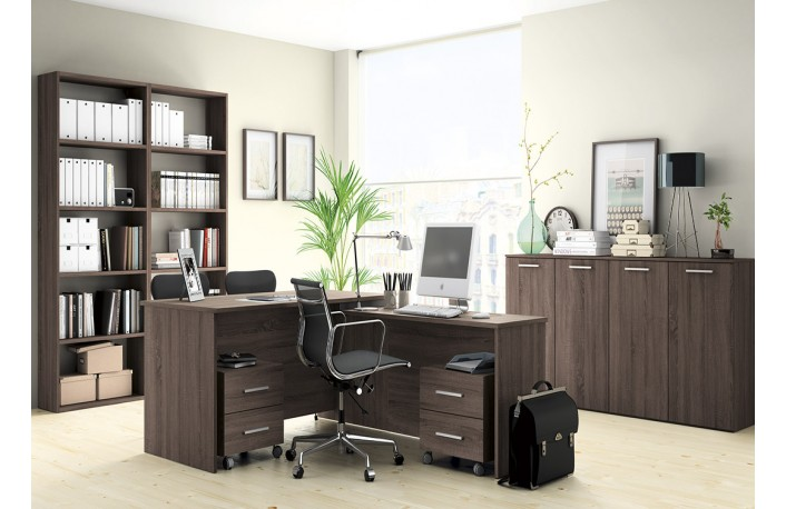 Consejos para decorar con muebles oscuros for Escritorios para oficina economicos