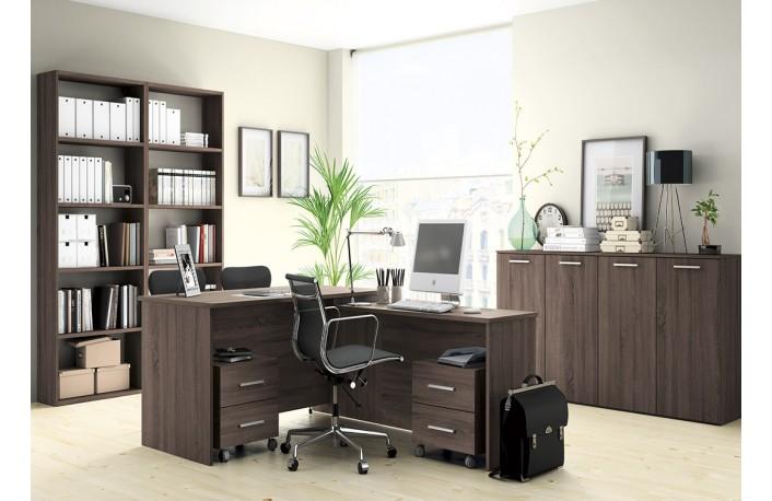 Consejos para decorar con muebles oscuros for Imagenes oficinas modernas